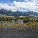 Overview of the Yellowstone river in Paradise Valley