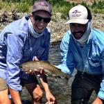 Jordan with a hard-fighting, Yellowstone Rainbow.