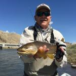Tom getting it done on his April guide trip down the Lower Madison river.
