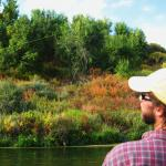 Neil Strickland on the Bighorn river, Montana