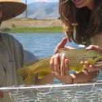 Yellowstone produces a fine trout for this young angler