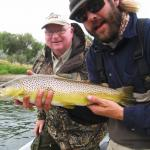 Dean with a nice fish from the Lower Yellowstone river