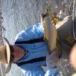 Mark with a gorgeous Yellowstone River brown trout.  Taken and released on a grasshopper.