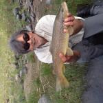 Max's big brown trout.  Paradise Valley near Bozeman, Montana.