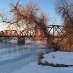 Upper Missouri River in Winter-Montana