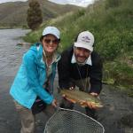"21"" brown trout on the Lower Madison river in Montana"