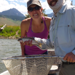 A nice little Rainbow trout.  Paradise Valley, near Bozeman, Montana.